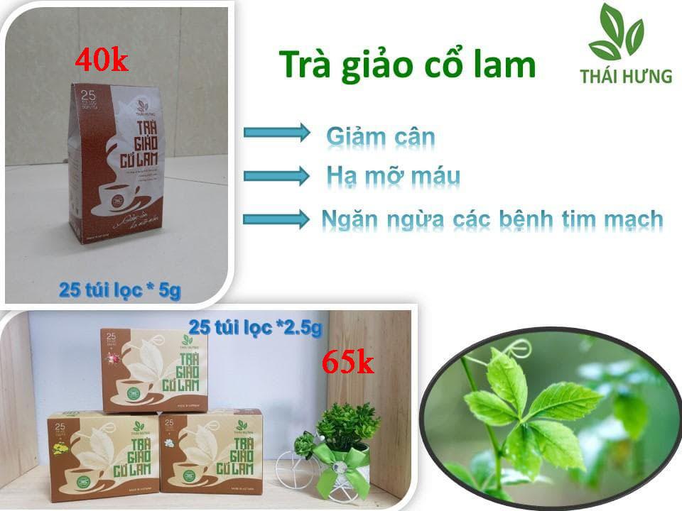 Trà giảo cổ lam Thái Hưng 25 túi lọc 2.5g cao cấp (giảm cân hiệu quả, giảm mỡ máu, hạ huyết áp )