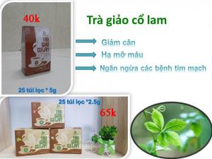Trà Giảo Cổ Lam Thái Hưng 25 túi lọc 5g (giảm cân hiệu quả, giảm mỡ máu, giảm huyết áp)