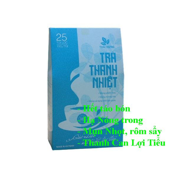 Trà Thanh Nhiệt Thái Hưng 25*10 gam giúp mát gan lợi tiểu (làm đại lý ctv lh 0934449922)